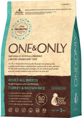 Сухой корм для собак One&Only Adult аll индейка с рисом 3кг