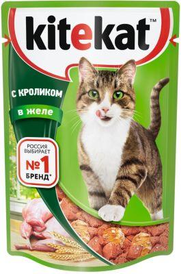 Корм для кошек Kitekat с кроликом в желе 85г
