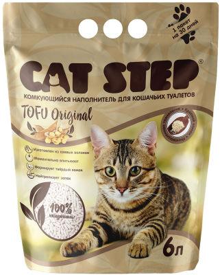 Наполнитель для кошачьего туалета Cat Step Tofu Original 6л