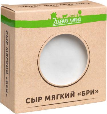 Сыр Маркет Зеленая линия Бри мягкий с белой плесенью 60% 150г