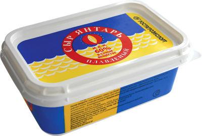 Сыр плавленый Ростагроэкспорт Янтарь 60% 400г
