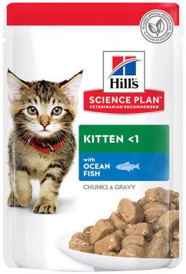 Влажный корм для котят Hills Science Plan Kitten с океанической рыбой 85г