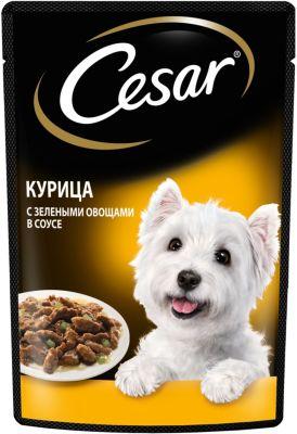 Корм для собак Cesar курица с зелеными овощами в соусе 85г