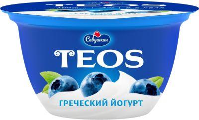 Йогурт Савушкин Греческий Черника 2% 140г