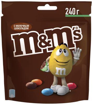 Драже M&Ms с молочным шоколадом 240г